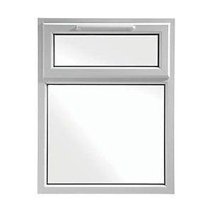 Upvc casement window white 610 x 1010 top hung for Best price wood windows