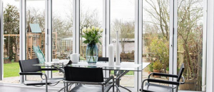 conservatory with bi-fold doors hayes