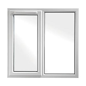 upvc casement window white 1190 x 1160 lh side hung