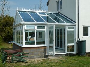 gable conservatory & french doors hayes