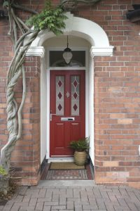 red composite front door hayes